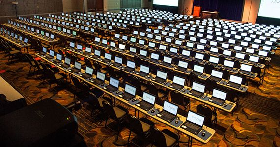 Laptops for a large conference