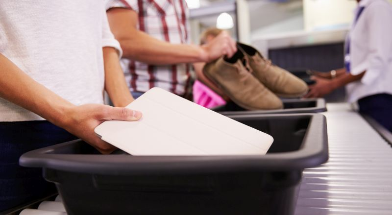 Going through airport security with devices